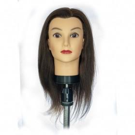 Główka Fryzjerska Candice 40cm Brązowa