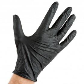 Gloves Nitrile Black M 100szt/op