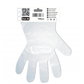 Gloves HDPE M 100szt/op