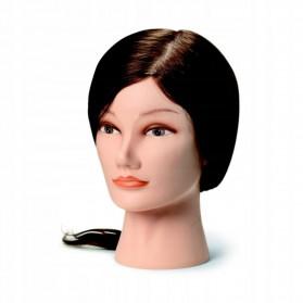Główka Fryzjerska Tina 45cm-50cm Brązowa