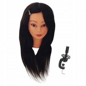 Główka Fryzjerska Betty 60cm Brązowa