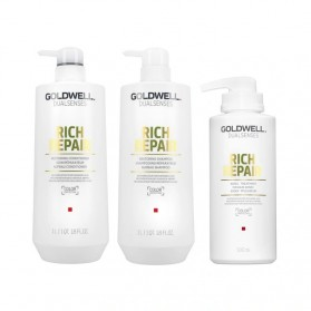 Zestaw Goldwell Rich Repair Shampoo 1000ml + Conditioner 1000ml + Treatment 500ml
