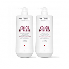 Zestaw Goldwell Color Extra Rich Shampoo 1000ml + Conditioner 1000m