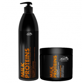 Zestaw Joanna Milk Proteins Shampoo 1000ml + Treatment 500ml